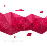 Abstract  geometric background. Vector Polygon Illustration Royalty Free Stock Images