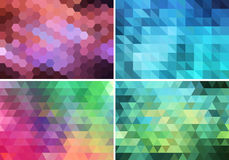 Abstract geometric background, vector set Stock Photo