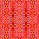 Regular ellipses and diamond pattern orange red blue vertically Royalty Free Stock Photography