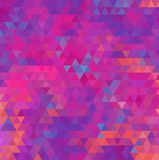 Abstract geometric background. Vibrant bright abstract geometric background in hot colors Royalty Free Stock Photo