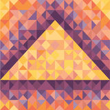 Abstract Geometric Background in Vintage Style - Vector Pattern for design project. Pyramid concept illustration in geometric style Stock Photos