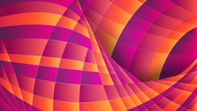 Abstract geometric background. Violet and orange curved lines. Dynamic effect royalty free illustration