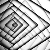 Abstract geometric background with white corners. Pattern, 3d illustration with multi exposure effect Stock Photos