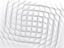 White parametric triangular pattern, 3d. Abstract geometric background with white parametric triangular pattern, 3d render illustration vector illustration