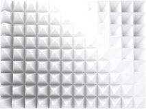 Abstract geometric background, 3d relief. Abstract geometric background with white relief pattern, 3d render illustration stock illustration