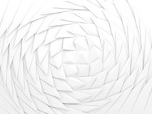 Abstract geometric background, white swirl. Abstract geometric background, white parametric triangular pattern, 3d render illustration Royalty Free Stock Images