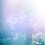 Abstract geometric background. Wireframe mesh Stock Image