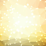Abstract geometric background. Abstract yellow geometric background consisting of colored triangles with lights in corners. Low poly square format pattern Stock Image