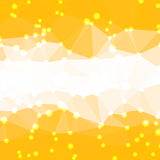 Abstract geometric background. Abstract yellow geometric background consisting of colored triangles with lights in corners. Low poly square format pattern Royalty Free Stock Photo
