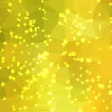 Abstract geometric background. Abstract geometric yellow-green background consisting of colored triangles with lights in corners. Low poly square format pattern Stock Image