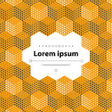 Abstract geometric background. Yellow template with hexagons and dots, vector illustration Royalty Free Stock Photography