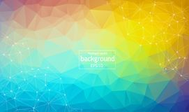 Abstract Geometric backgrounds full Color. White polygonal triangle geometric background. polygonal abstract background consisting. Of triangles. Light vector royalty free illustration