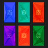 Abstract geometric backgrounds with monograms. Letters G-L Royalty Free Stock Photography
