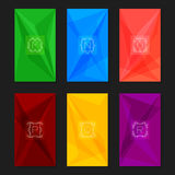 Abstract geometric backgrounds with monograms. Letters M-R. Royalty Free Stock Photo