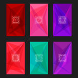 Abstract geometric backgrounds with monograms. Letters Y, Z and frames. Collection of trendy geometric triangular backgrounds with letter monograms Y, Z and Royalty Free Stock Images