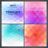 Abstract geometric backgrounds of a triangle Stock Images