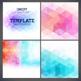 Abstract geometric backgrounds of a triangle Royalty Free Stock Images