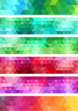 Abstract geometric banner background, vector set Royalty Free Stock Photo