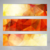 Abstract geometric banner backgrounds Royalty Free Stock Photography