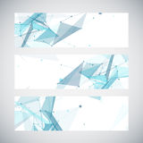 Abstract geometric banner design. Geometric. Backgrounds. Vector royalty free illustration