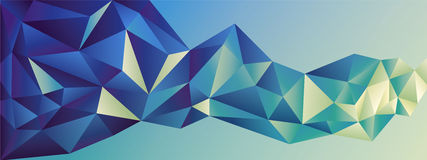 Abstract geometric banner Stock Photos