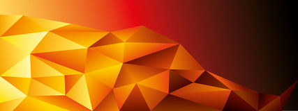 Abstract geometric banner. Full vector Royalty Free Stock Photos