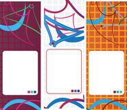 Abstract geometric banner set design. Abstract geometric website banner set design royalty free illustration