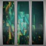 Abstract Geometric Banner. Royalty Free Stock Photo