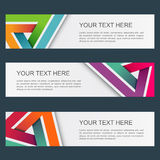 Abstract geometric banner Royalty Free Stock Photo
