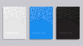 Abstract geometric banners. Covers design set Stock Images