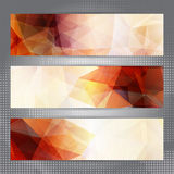 Abstract geometric banners Royalty Free Stock Photo