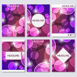 Abstract geometric banners molecule and communication. Science and technology design, structure DNA, chemistry, medical Royalty Free Stock Photos