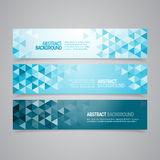 Abstract Geometric Banners Royalty Free Stock Photos
