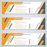 Abstract geometric banners templates Stock Image