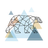 Abstract geometric bear. Scandinavian style. Royalty Free Stock Photo