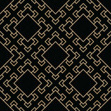 Abstract geometric black and gold deco art square pattern Royalty Free Stock Photos
