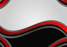 Abstract geometric Black and Red color vector background with copy space modern design.  vector illustration