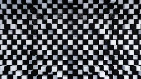 Abstract geometric black and white background. 3d render Royalty Free Stock Photo