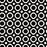 Abstract geometric black and white background, seamless pattern, Stock Images