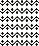Abstract geometric black and white background, seamless pattern, Royalty Free Stock Image