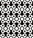 Abstract geometric black and white background, seamless pattern, Royalty Free Stock Photos