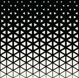 Abstract geometric black and white deco art print halftone triangle pattern. Background Stock Photography