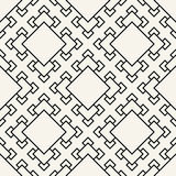 Abstract geometric black and white deco art square pattern background Royalty Free Stock Image