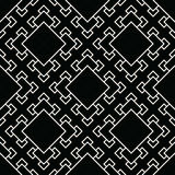 Abstract geometric black and white deco art square pattern background Royalty Free Stock Photography