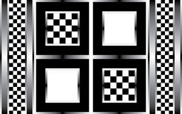 Abstract geometric black and white Stock Image