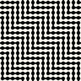 Abstract geometric black and white graphic design optic illusion pattern Stock Photography