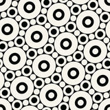 Abstract geometric black and white graphic design print circles pattern background. Abstract geometric black and white graphic design print circles pattern royalty free illustration