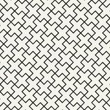 Abstract geometric black and white graphic design print cross tile pattern Stock Photos