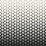 Abstract geometric black and white graphic design print halftone triangle pattern Stock Images