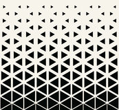 Abstract geometric black and white graphic design print halftone triangle pattern Royalty Free Stock Photo